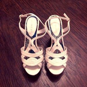 207fc4fd41f Madden Girl. White Madden Girl Cork Wedge heel Size 8.5M